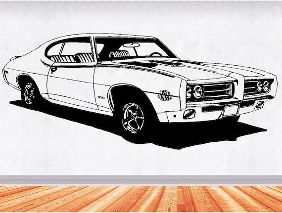 Muscle Car Decals >> 69 Gto Muscle Car Decals Muscle Car Sticker Hot Rod Etsy