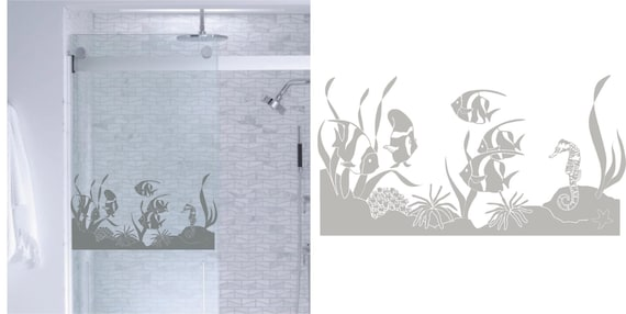 Tropical Fish Ocean Diy Etched Glass Vinyl Window Films