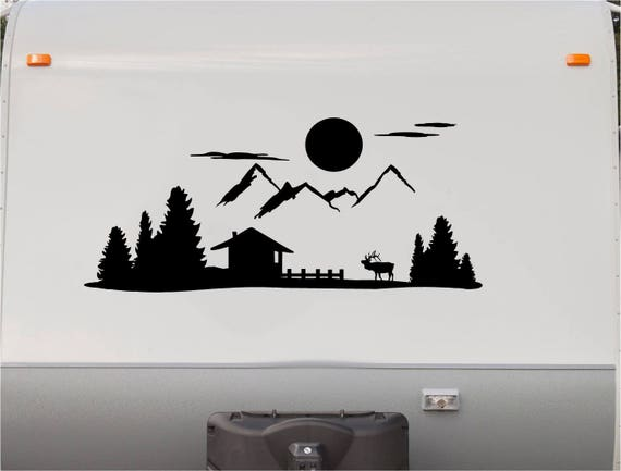 Mountains Motorhome Stripe Kit Cabin Rv Stickers Trailer
