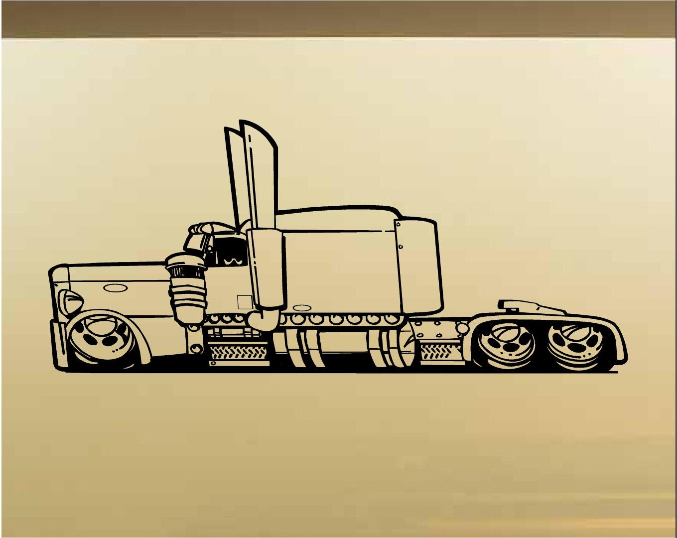 Low Rider Semi Truck Car Wall Decal Muscle Car Decals Muscle   Etsy