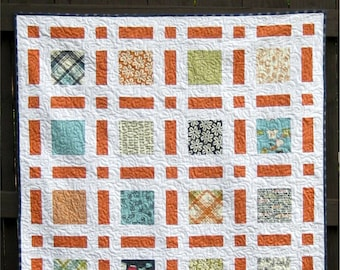 Broken Frames - digital quilt pattern- baby, lap, and twin sizes - layer cake and charm pack friendly