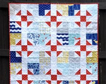 Shoo Fly Pie - Digital pdf Quilt Pattern - Baby, Lap, Twin, Queen, King Sizes - Fat Quarter Friendly