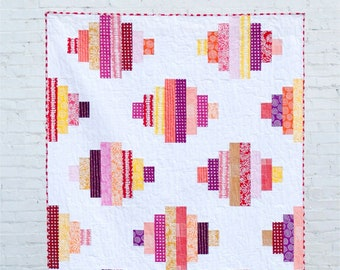 Jelly Lanterns - digital quilt pattern - a modern pattern - lap, twin, and queen sizes