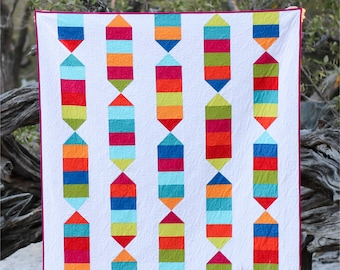 Candy Stripes - digital quilt pattern - baby, lap, twin sizes