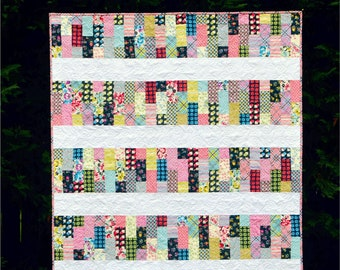 Flagstone Path - digital quilt pattern - a modern pattern - baby, lap, large lap, and twin