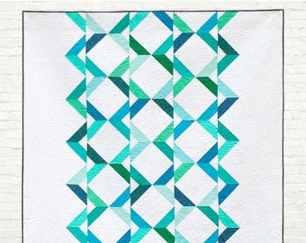 Arrow Point Path - digital quilt pattern - a modern pattern - baby, lap, twin, and queen sizes