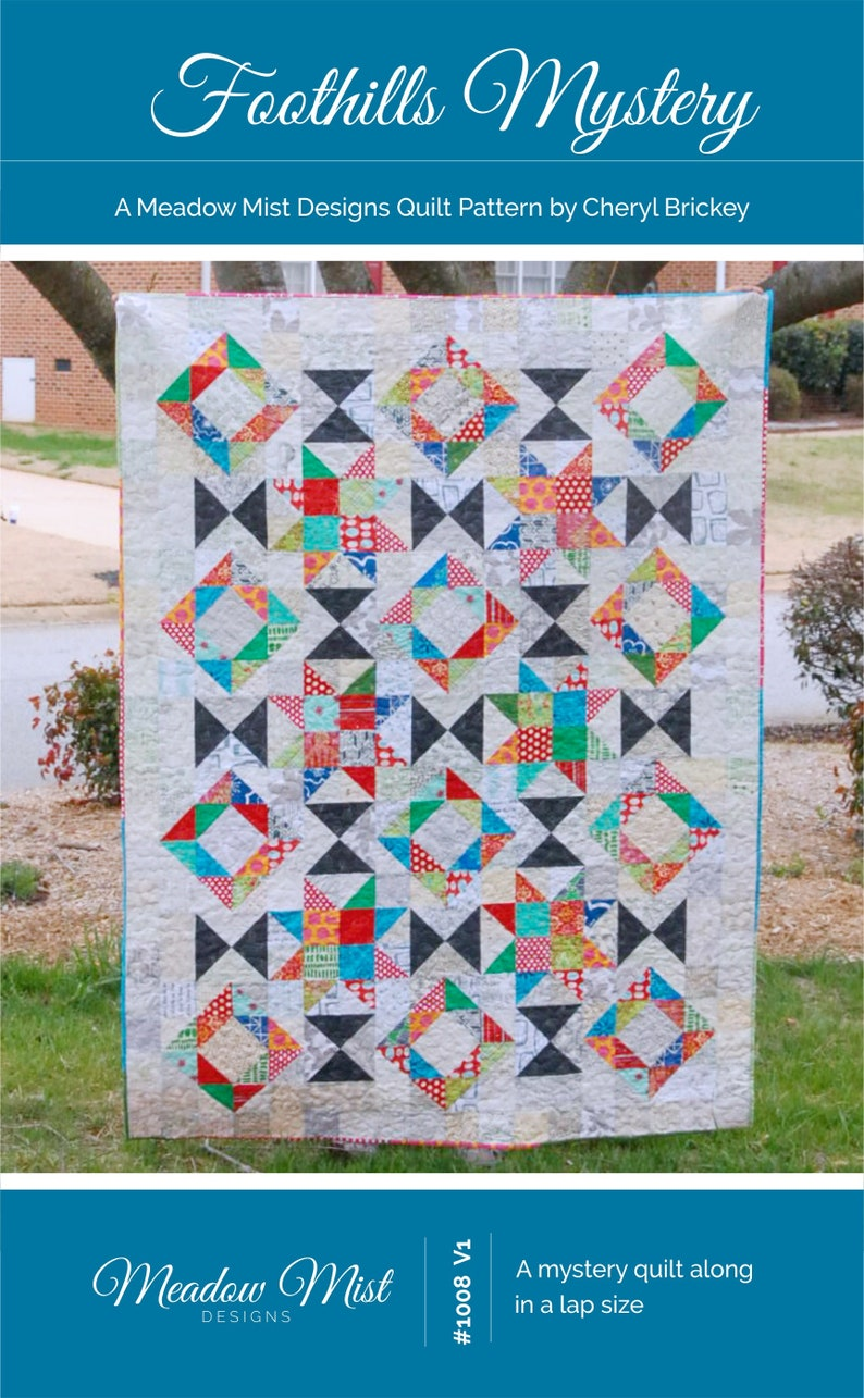 Foothills Mystery Quilt  a Digital pdf Quilt Pattern  a image 0