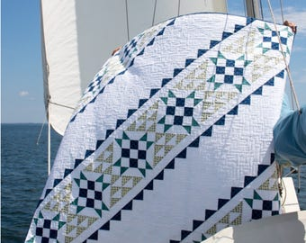 Canvas Lines - digital quilt pattern - a modern pattern - baby, lap, and queen sizes