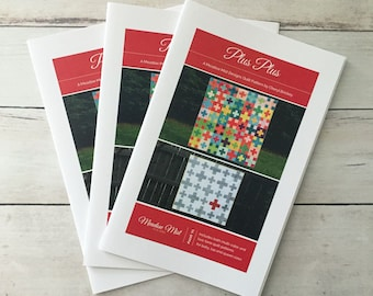 Plus Plus - printed quilt pattern - baby, lap, and queen sizes