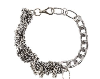Silver Statement Chain Choker Necklace - Elegant Collier - Street Style Chain Collar