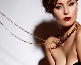 Chain Choker Tassel Necklace - Elegant Slave Collar - Sexy Girlfriend Gift  - Erotic - Submissive Necklace - Fetish - Bdsm - SWITCH