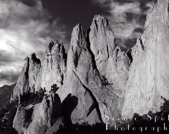Black and White Prints, Black and White Photography, Colorado Landscape, Colorado Photography, Garden of the Gods - Fine Art Photograph