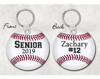 Baseball senior gift, personalized baseball key chain, baseball player gift, senior night gift, new driver gift, baseball mom gift