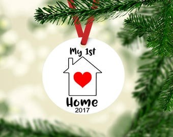 My First Home ornament, 1st christmas ornament, new nome ornament, my new home keepsake ornament, housewarming gift