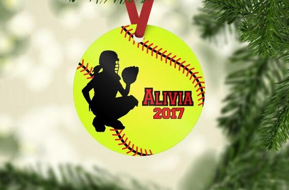 image 0 - Softball Ornament Catcher Ornament Softball Christmas Etsy