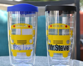 Bus Driver Gift, School Bus Driver Gift, Free personalization of name, Yellow Bus
