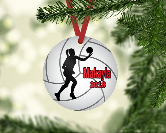 Volleyball ornament, Volleyball player ornament, Volleyball Christmas  ornament, personalized ornament, team gift gift, Volleyball player