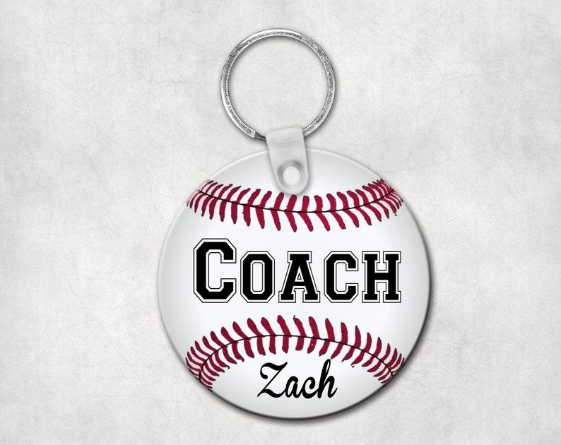 6ed555251 Baseball coach key chain personalized coach gift baseball   Etsy