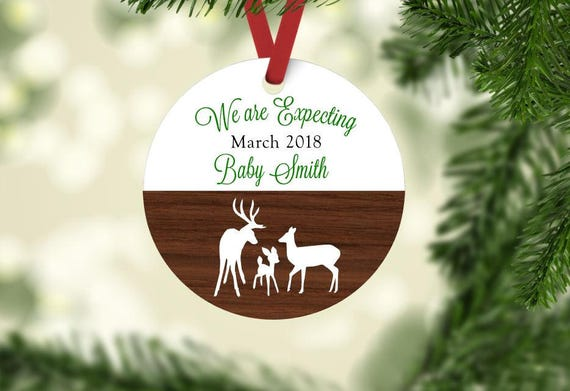 image 0 - Expecting Parents Christmas Ornament Personalized Ornament Etsy