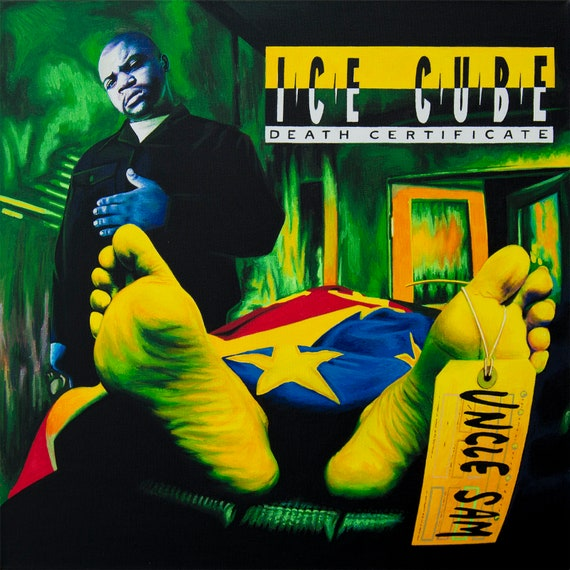 Ice Cube Amerikkkas Most Wanted Album Cover Stretched Canvas Wall Art