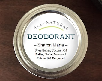 "Editable & Printable Essential Oil Labels - Deodorant 2"" round labels - Add your ingredients or your contact info in Adobe Acrobat"