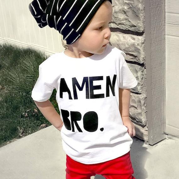 Amen Bro T Baby Junge Hipster Shirt Hipster Baby Junge