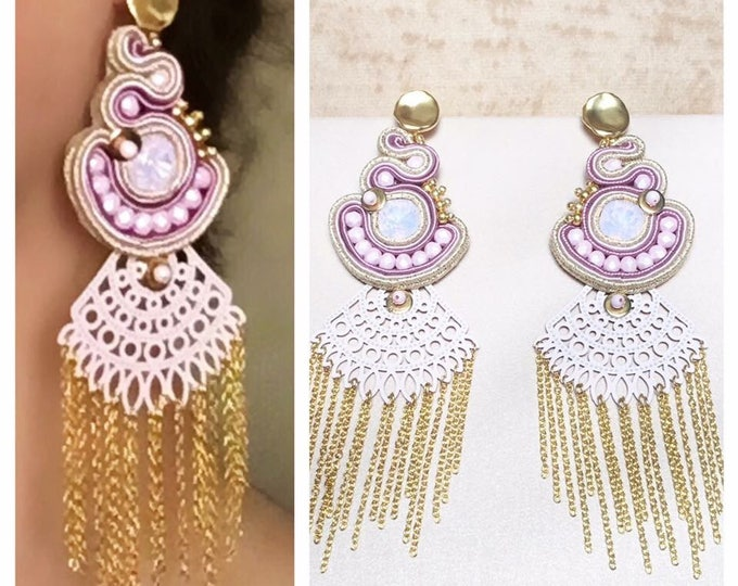 Swarovski soutache earrings