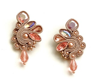 Pink Swarovski earrings