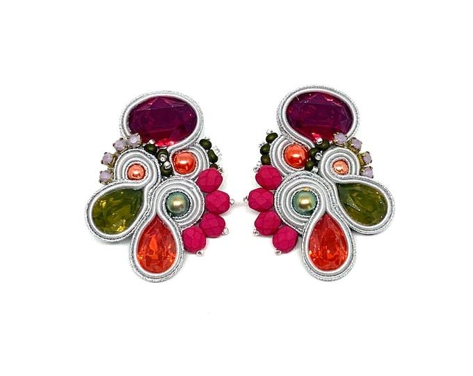 Resin medium earrings