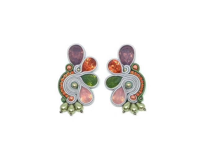 """Medium resin earrings """"So Colorful Collection"""""""