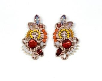 Miro Statement medium earrings, Swarovski crystals