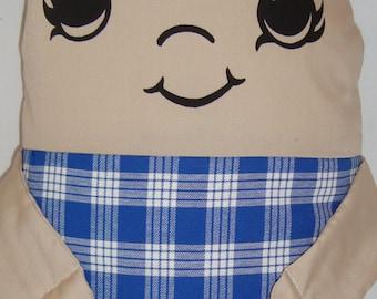 dd108cda8 pLarge Royal Blue Palaka Hawaiian Humpty Dumpty Pillow Doll 16