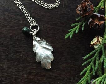 Oak leaf pendant silver oak necklace mandala necklace sterling silver oak leaf necklace silver oak leaf pendant aloadofball Choice Image