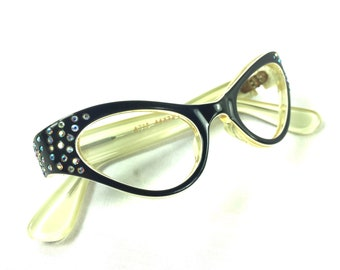 094ceb2b7f9 Swank Frame France Cat Eye 4715 44-22