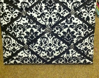 Black and White Damask Memory Board