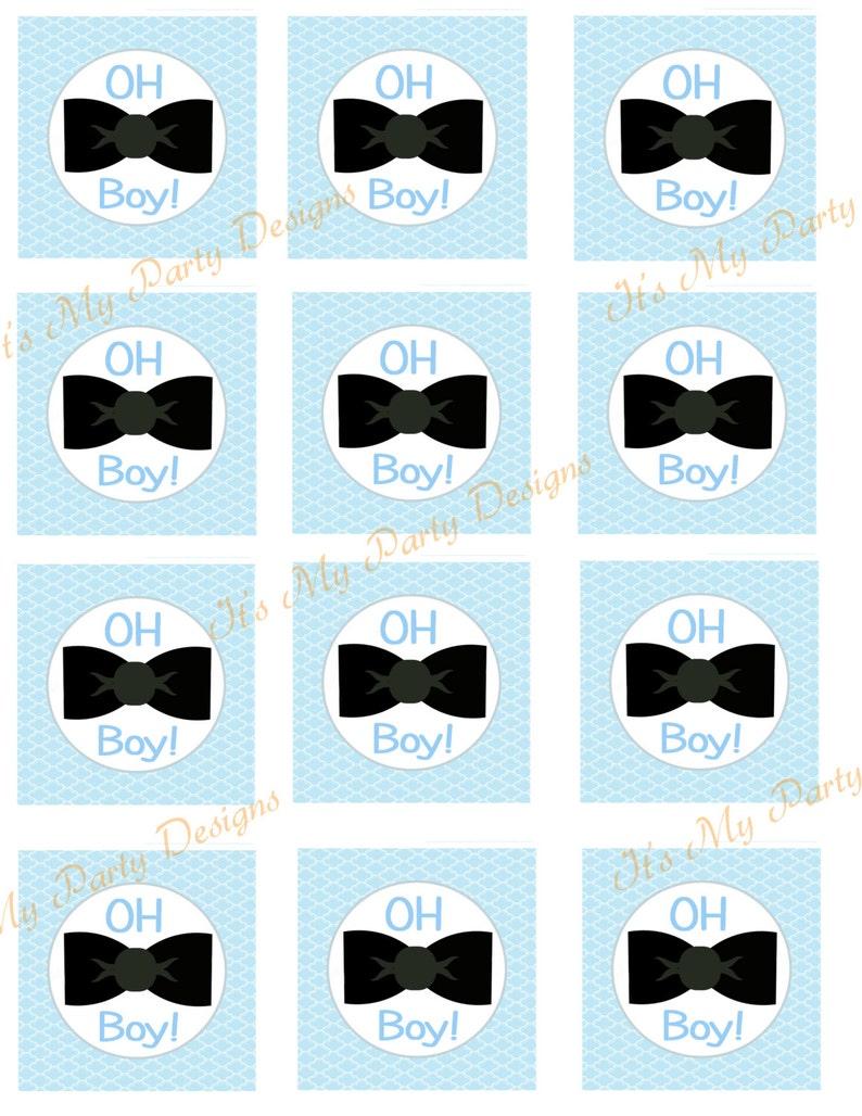 Digital Download: Printable DIY 2 cupcake toppers  Oh image 0