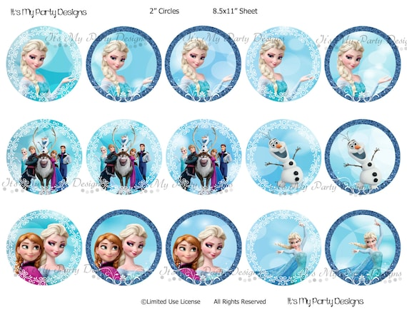photo relating to Printable Frozen Pictures titled Printable Frozen Cupcake Toppers: 2\