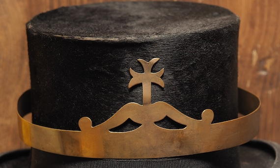 Antique French Tiara Crown Diadem in brass with cr
