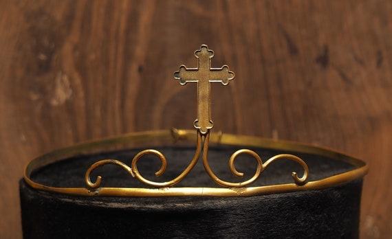 Antique French Elegant Chic Tiara Crown Diadem in