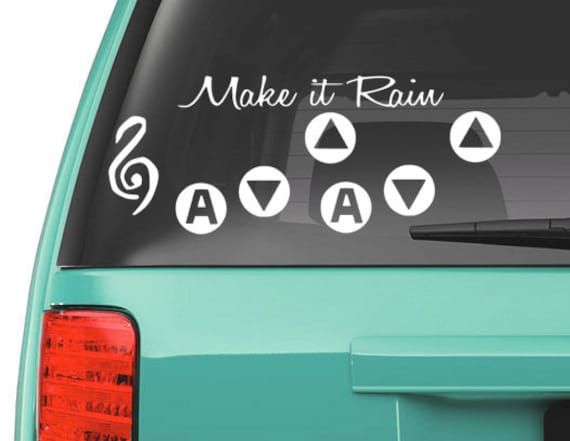 Zelda song of storms vinyl decal - Ocarina of time, Link, sticker