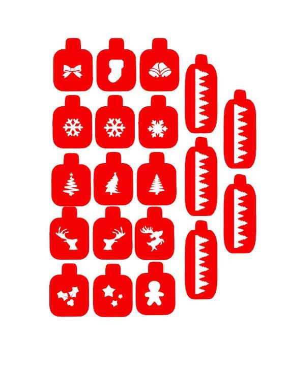 Items similar to Christmas nail stencils, nail stamping