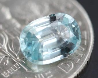 AAA aquamarine gemstone, hand cut faceted aquamarine oval, natural blue gemstone, AAA gemstone jewelry supply, rare collector gem