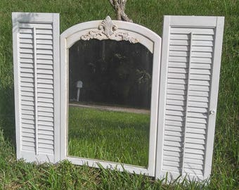 Mirror With Shutters Etsy