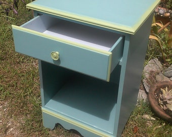 Night stand,Girls bedroom set,Girls bedroom furniture, Blue and Green bedroom set,Annie Sloan paint, Provence paint