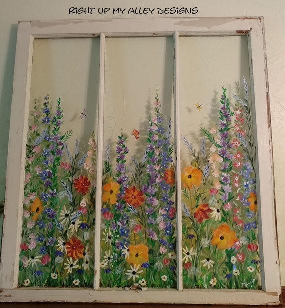Painted Window Ideas From Custom Orders Window Pane Art Etsy