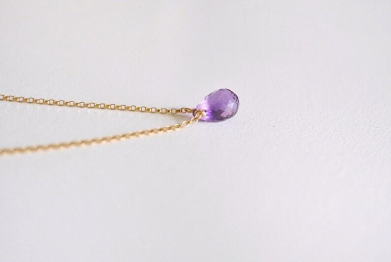 Identity February Birthstone Amethyst Drop Necklace