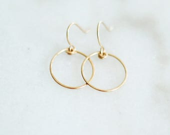Chalice - Gold Hoop Earrings