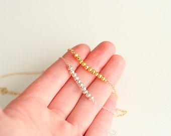 Glimmer Bar Necklace