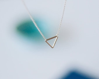 Carly - Sterling Silver Triangle Necklace