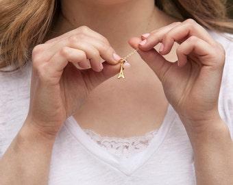 Paris Eiffel Tower Gold Necklace